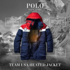 Team USA Winter Olympics heated jacket