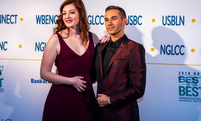 Mandy Harvey and Adam Rippon