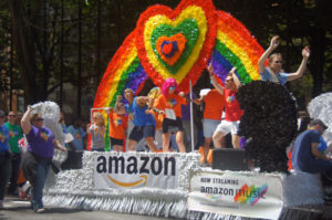 Amazon Pride Parade Float