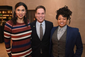 Point Foundation Executive Director & CEO Jorge Valencia with two Point Alumni: Audrey Stewart (L) and Dr. Monica Motley (R)