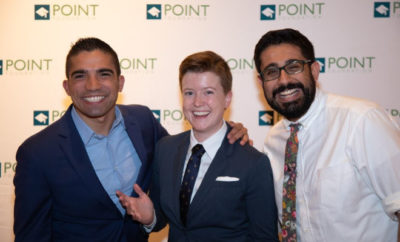 Point Scholars Eric Gonzaba, Shannon Moran, and Adil Mansoor