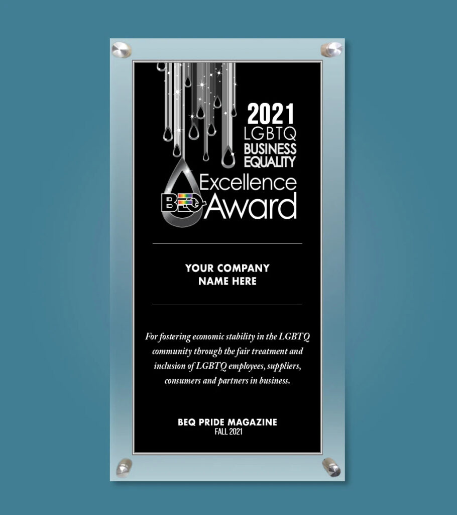 Mock up of the excellence award